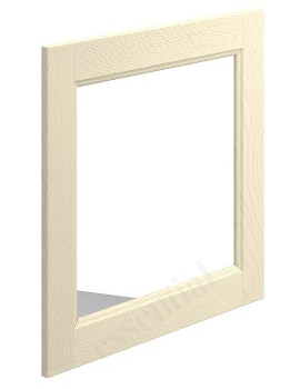 Essential Hampshire 600 x 600mm Square Bathroom Mirror Mussel Ash