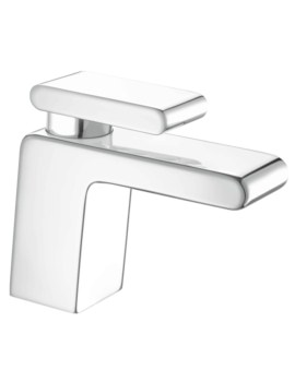 Pivot Deck Mounted Basin Mixer Tap With Clicker Waste