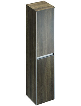Xcite 350 x 1500mm Light Oak Double Door Tall Storage Unit