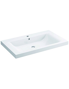 Pura Xcite 800 x 480mm 1 Tap Hole Basin