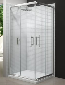 Merlyn 6 Series Corner Door Shower Enclosure With MStone Tray 900 x 900mm