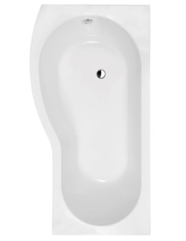 Form 1500 x 800mm Spacesaver Showerbath Left Hand