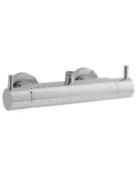 Round Thermostatic Bar Shower Valve With Top And Bottom Outlet