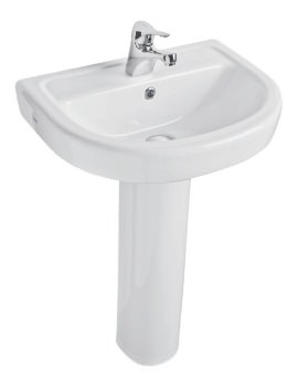 Milan 550mm Basin And Full Pedestal
