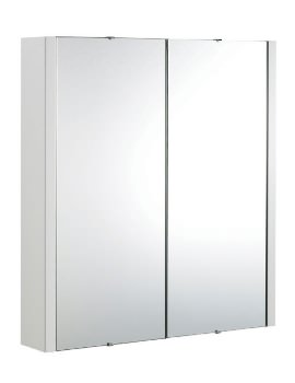 Valencia Mirror Bathroom Cabinet With Two Doors 600mm