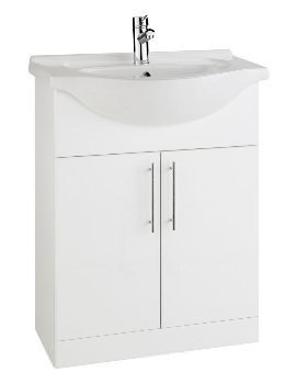 New York White Vanity Unit And Basin 600mm