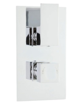 Razor Twin Thermostatic Shower Valve With Diverter