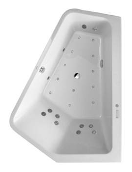 Duravit Paiova 1900mm 5 Corner Right Bath With Panel And Combi System E