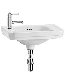 Victorian 510mm Cloakroom Basin With 1 Tap Hole Left Hand