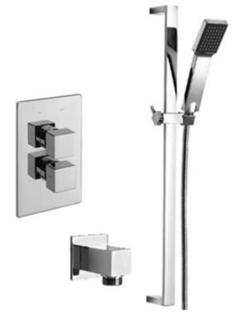 Edge Concealed Shower Valve With Kit And Wall Outlet