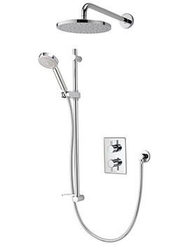 Aqualisa Dream DCV Concealed Thermostatic Shower Slide Rail Kit And Head