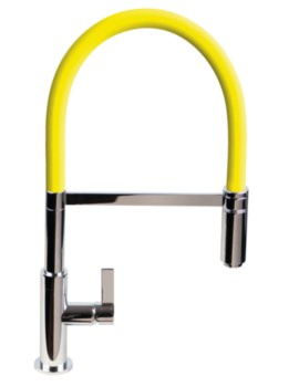 1810 Company Spirale Flexible Spout Sink Mixer Tap With Yellow Hose