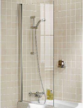 Classic 8mm Square Single Panel Bath Screen 800 x 1500mm