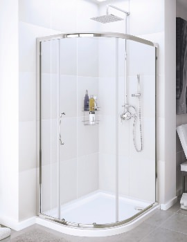 Classic Silver Single Door Quadrant Shower Enclosure 900mm