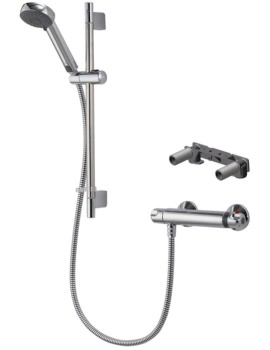 Aqualisa Midas 100 Thermostatic Bar Valve With Bracket And Slide Rail Kit