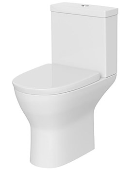 Saffron Close Coupled Semi Flush-To-Wall WC Suite 605mm
