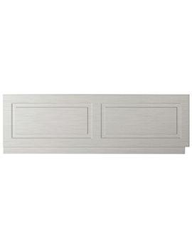 Lauren York 1800mm Stone Grey Woodgrain MDF Bath Front Panel