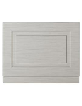 Lauren York 800mm Stone Grey Woodgrain MDF Bath End Panel