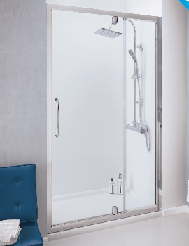Classic 1100mm Semi-Frameless Pivot Door With Integrated In-line Panel
