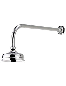 Aquatique Chrome 5Inch Drencher Fixed Head And Wall Arm