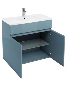 Britton Aqua Cabinets D450 Ocean 900mm Floor Standing Double Door Vanity Unit