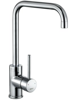 Cascata Square Spout Chrome Kitchen Sink Mixer Tap