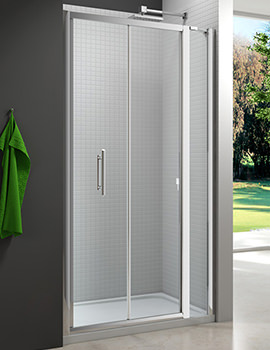 6 Series 1000mm Bifold Door And 140mm Inline Panel