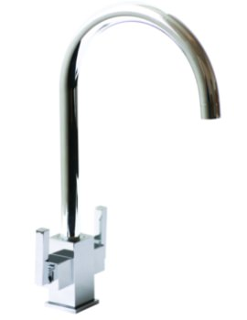 Ruscello Square Body Chrome Kitchen Sink Mixer Tap