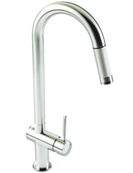 Grande Pull Out Spray Kitchen Sink Mixer Tap Chrome