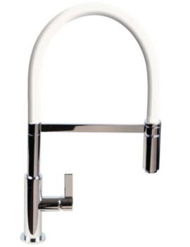 Spirale Flexible Spout Chrome Sink Mixer Tap With White Hose