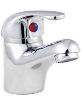 D-Type Mono Basin Mixer Tap With Metal Sprung Waste