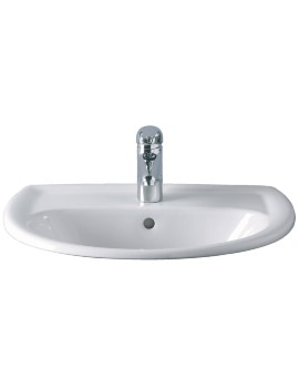 Twyford Galerie 1 Tap Hole Countertop Basin 500 x 430mm - GN4521WH