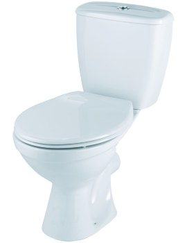 Option Close Coupled WC Pan With Dual Flush Cistern 630mm