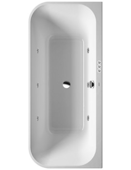 Happy D2 Back-To-Wall 1800 x 800mm Bath With Panel - Jet-System