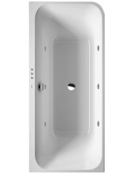 Happy D2 1800 x 800mm Bath With Two Backrest Slopes