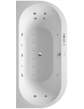 Salerno Round Inset Whirlpool And Airpool Bath 1650mm System 3