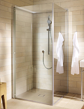 OpenSpace 885 x 885mm Square Shower Screen - 770002