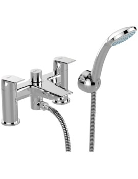 Tesi 2 Hole Dual Control Bath Shower Mixer Tap And Kit