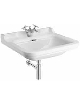 Waldorf 600mm 1 Tap Hole Wall Hung Basin