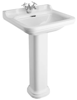 Waldorf 600mm 1 Tap Hole Basin And Pedestal