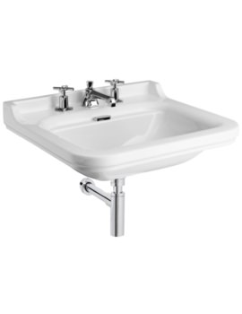 Waldorf 600mm 3 Tap Hole Wall Hung Basin