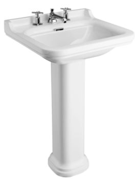Waldorf 600mm 3 Tap Hole Basin And Pedestal