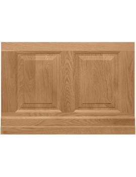 800mm Raised And Fielded Bath End Panel Natural Oak