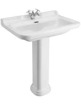 Waldorf 800mm 1 Tap Hole Basin And Pedestal