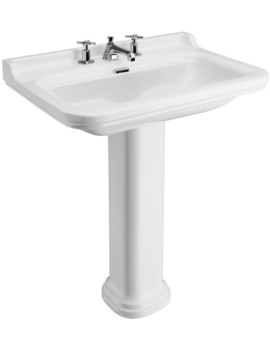 Waldorf 800mm 3 Tap Hole Basin And Pedestal