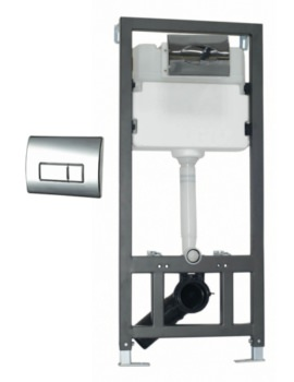 WC Wall Mounting Fixing Frame With Cistern And Square Face Plate