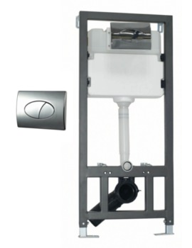 WC Wall Mounting Fixing Frame With Cistern And Round Face Plate