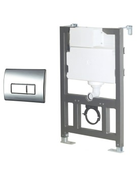 Wall Mounted WC Fixing Frame With Cistern And Push Plate