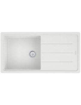 Basis BFG 611-970 Fragranite Polar White 1.0 Bowl Kitchen Inset Sink