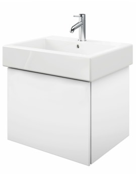 Delos 1 Compartment White Matt Unit With Vero 700mm Basin